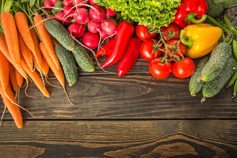 Légumes colorés