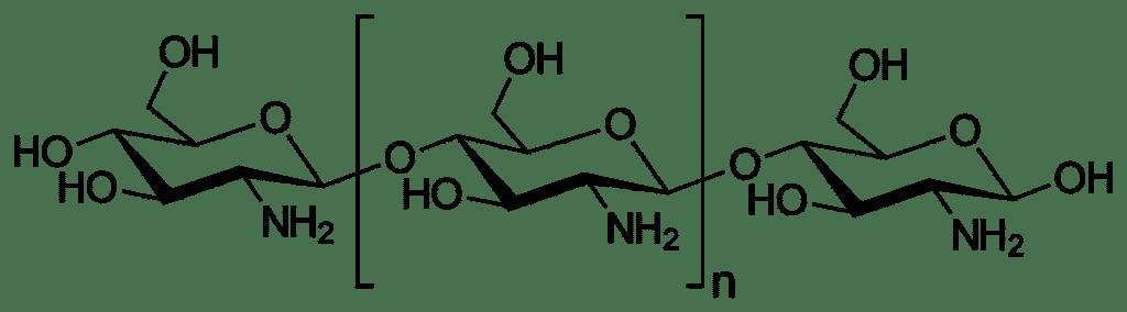 Formule chimique du Chitosan