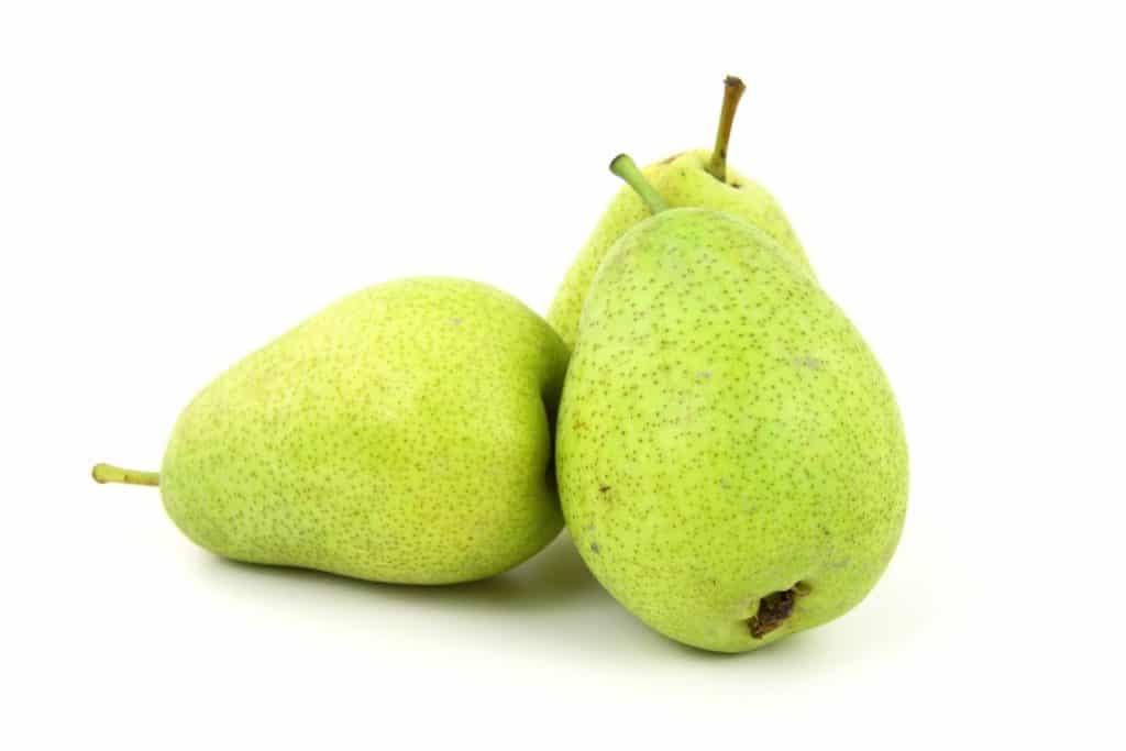 Les poires sont pauvres en calories