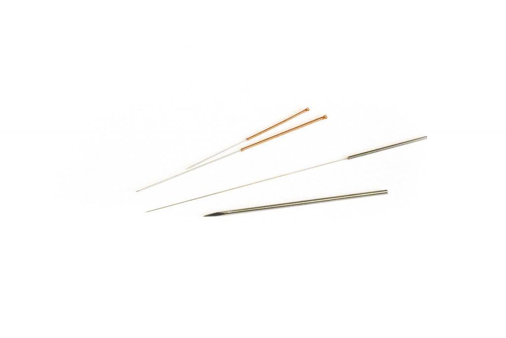 Aiguilles employées en acupuncture