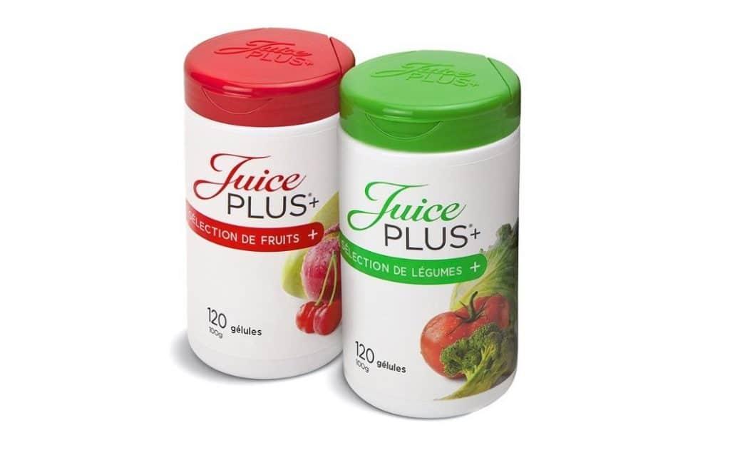 Boîtes de gélules Fruits et légumes de Juice Plus