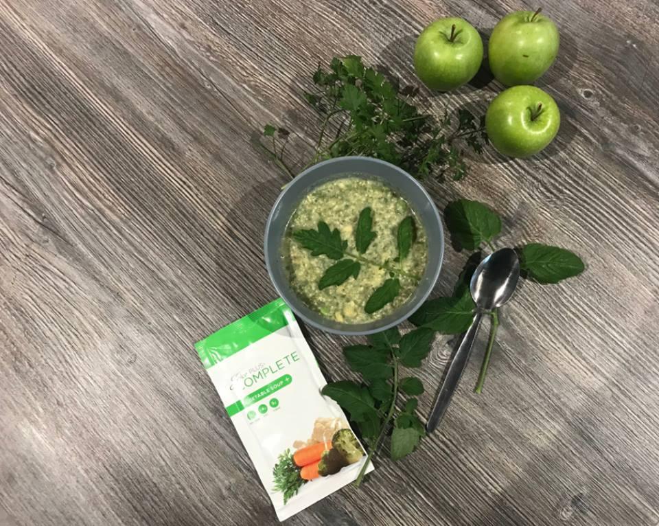 Bol et sachet de la soupe végétale Juice Plus