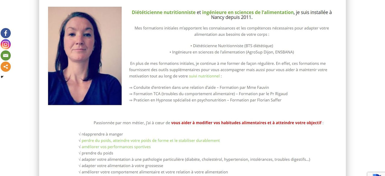 Les meilleurs nutritionnistes sur Nancy et sa région